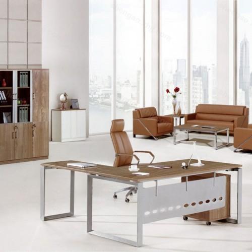 简约现代钢木主管桌经理桌01