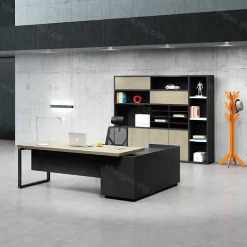 现代简约钢木办公桌时尚老板办公桌经理桌03