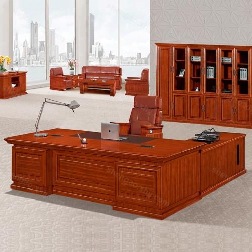 高档实木老板办公桌油漆大班台总裁桌01