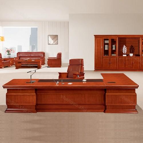 实木油漆总裁大班台老板办公桌经理桌02