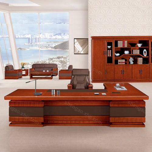 现代实木油漆办公桌大班台老板桌总裁经理桌03
