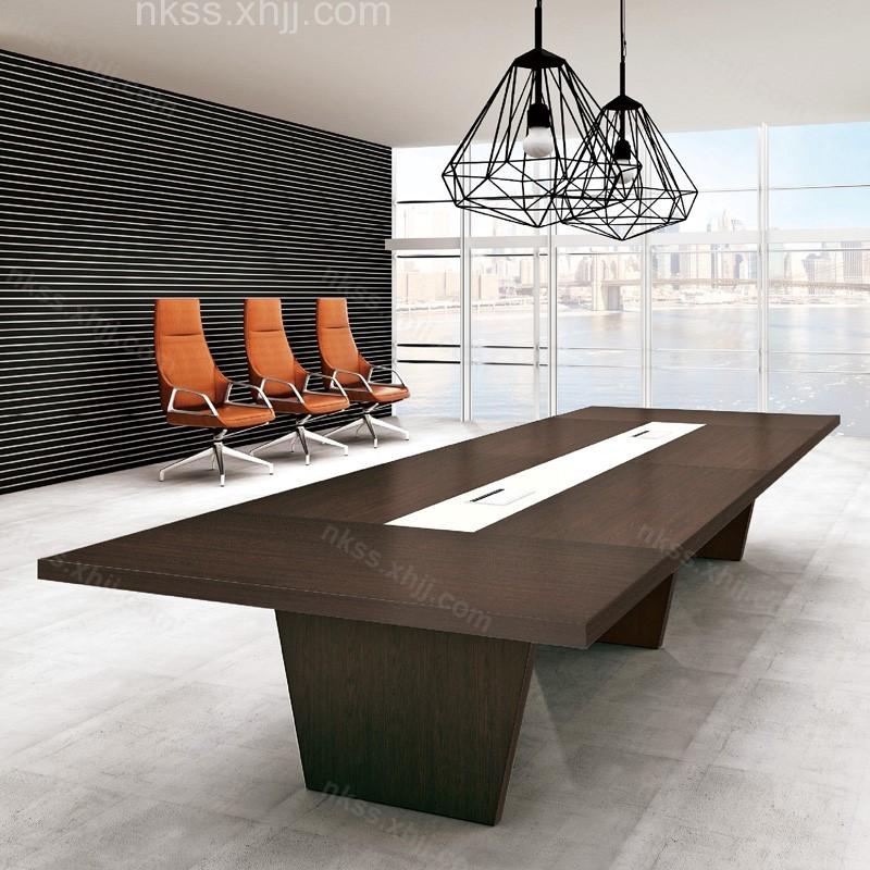 大型会议桌长条桌简约现代板式长方形培训桌11