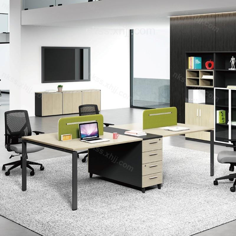 时尚简约职员卡座电脑桌屏风办公桌  54