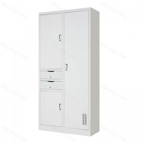 钢制二屉卫生柜三门储