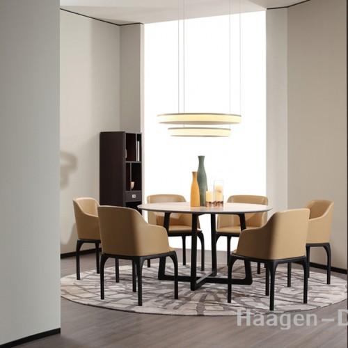 轻奢时尚实木圆餐桌 现代简约实木圆餐桌C016
