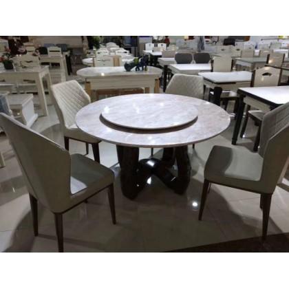 圆理石餐桌椅