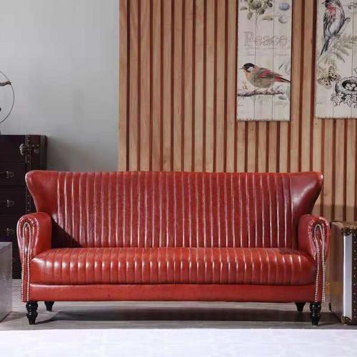 欧式皮艺沙发美式沙发