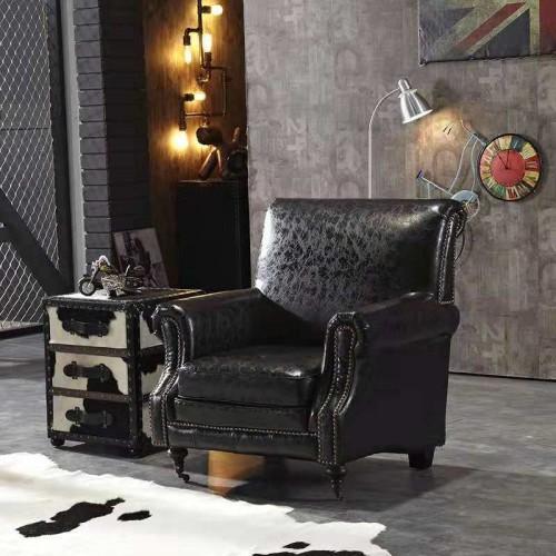 欧式复古真皮沙发22