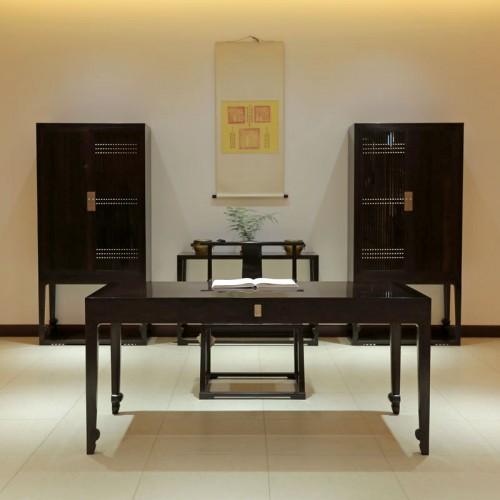 新中式红木书桌椅书柜