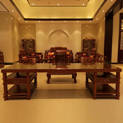 新中式红木书桌椅仿古