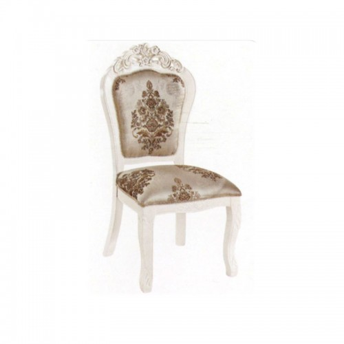 欧式现代餐椅白色雕花