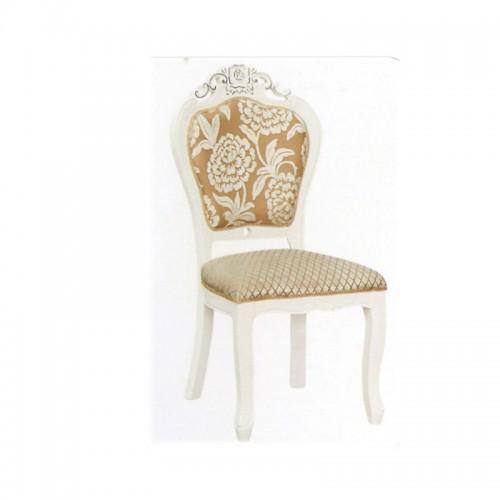 欧式餐椅象牙白色软包