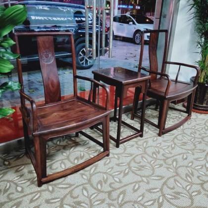 血檀扇面椅