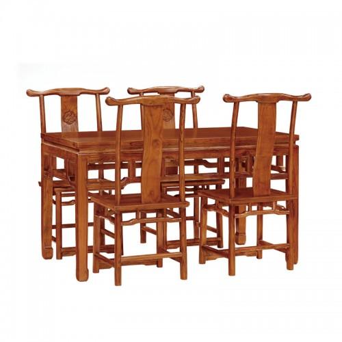 简约餐桌椅组合效果图01