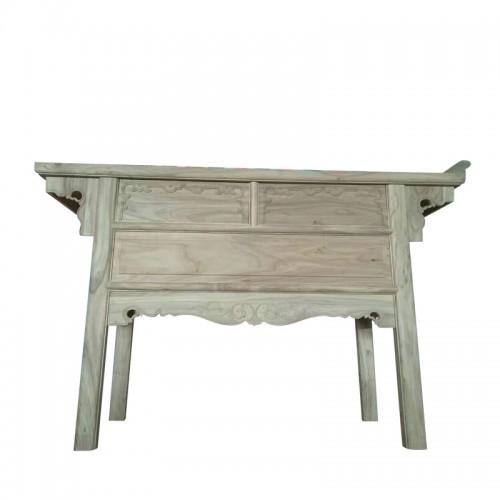中式白茬条案供桌榆木玄关桌01