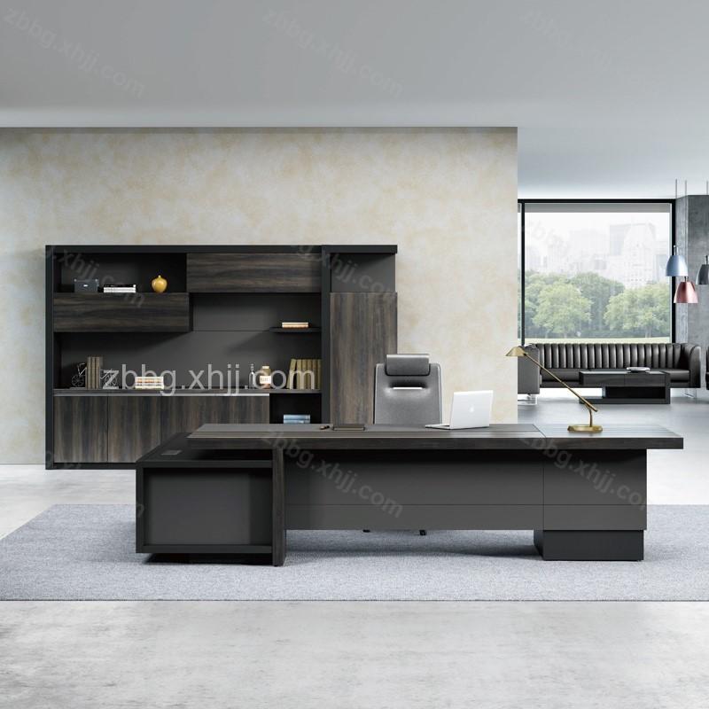 现代板式大班台主管桌28