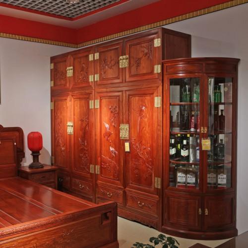 缅甸花梨木明式顶箱柜子衣柜01