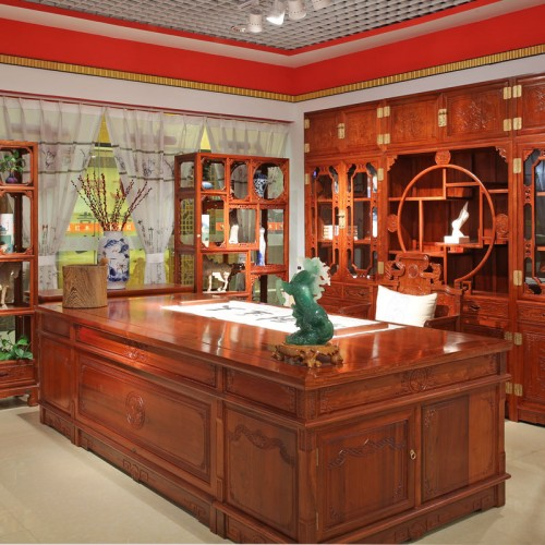 花梨木仿古写字台办公桌01