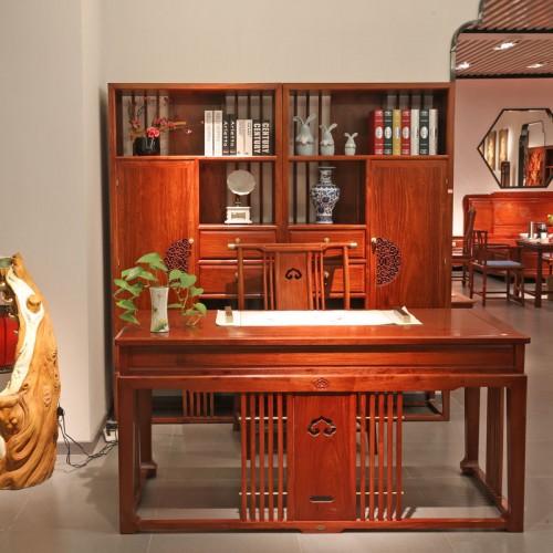 中式书桌椅电脑桌办公桌03