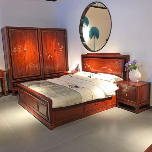 现代新中式卧室家具双人床05