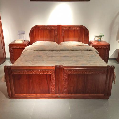 中式简约仿古红木实木床06