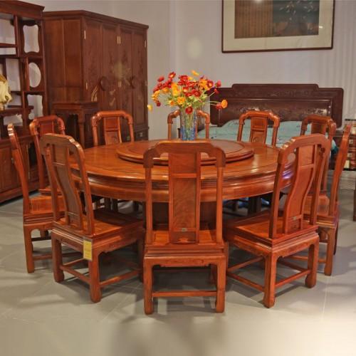 中式简约家用吃饭桌餐桌椅02