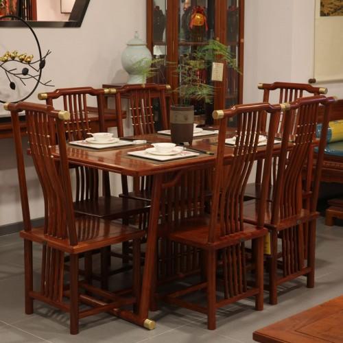 长方形实木家具餐桌椅03