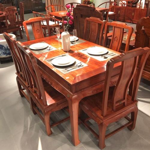 酒店餐馆桌椅仿古餐桌05