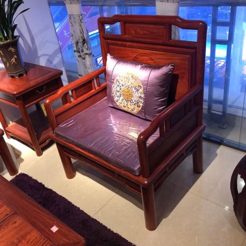 中式雕花沙发实木沙发03