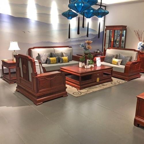 现代中式客厅红木沙发06