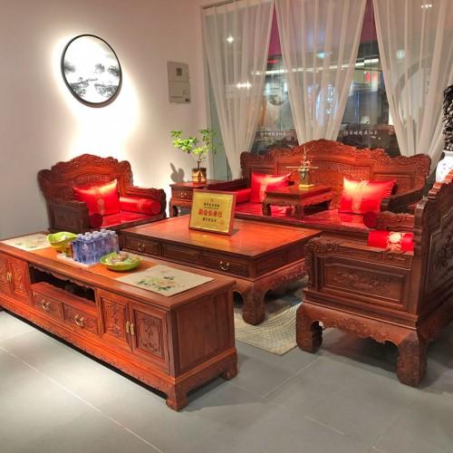 中式沙发组合红木古典家具07