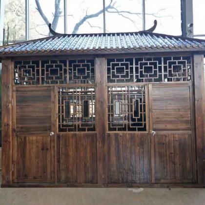 香河家用定制户外木屋售货亭长廊防腐木屋子碳化木厂家直销