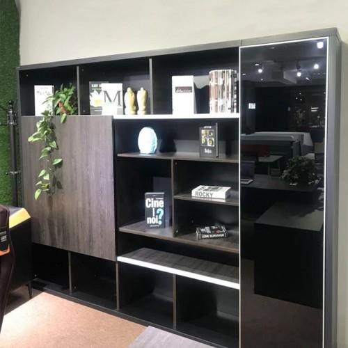办公室书柜装饰柜背景文件柜07