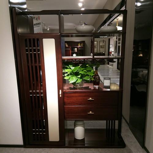 新中式纯实木间厅柜客厅柜 简约乌金木间厅柜_1801间厅柜