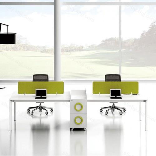 四人位办公桌屏风隔断电脑桌22