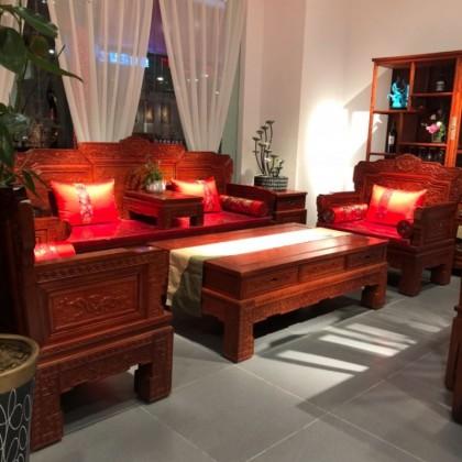 缅甸花梨沙发大茶几红木