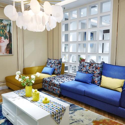 现代时尚客厅沙发套房家具02
