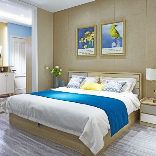 现代简约卧室双人床套房家具04