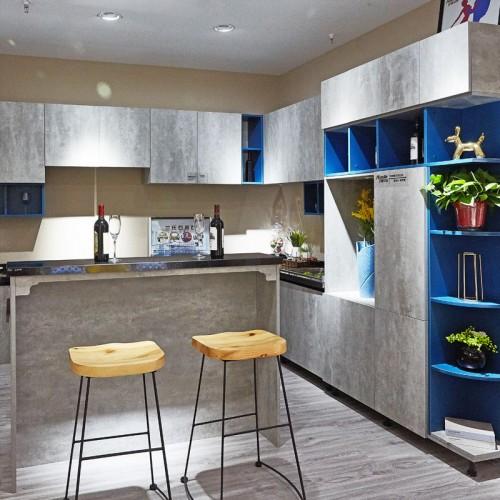现代简约家用整体厨房定制家具01