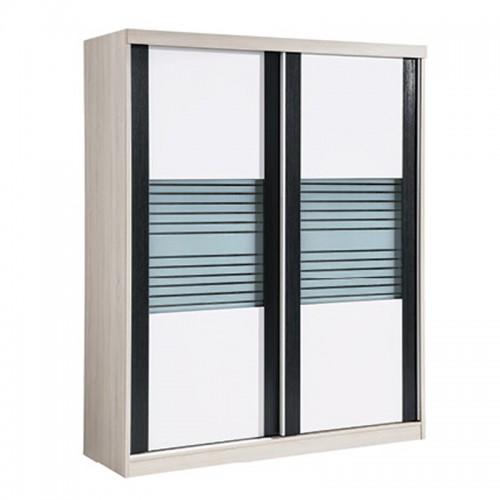 内推沙条玻璃门衣柜HC2-MW103