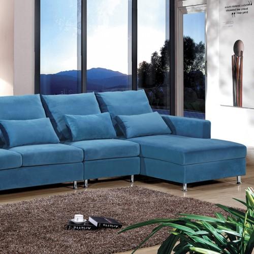 休闲布艺钢架沙发06