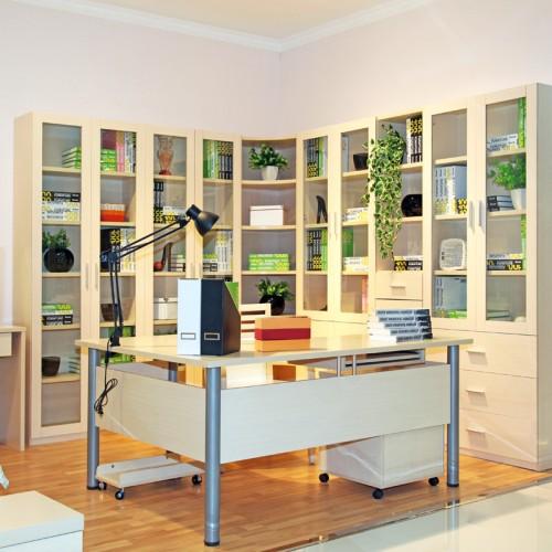 简约电脑桌办公桌书桌书柜09