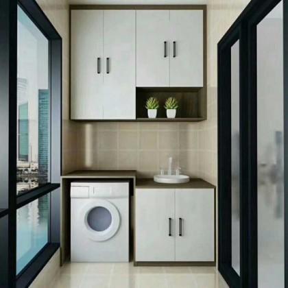 双饰面板阳台洗衣机柜