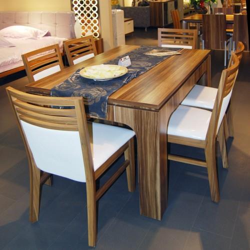 简约客厅长方形餐桌07