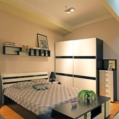 现代简约卧室双人床套房家具07