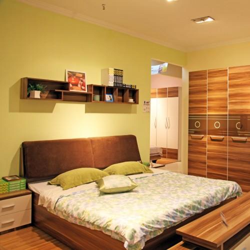 现代环保婚房床衣柜组合08