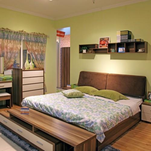 现代卧室床衣橱组合家具09