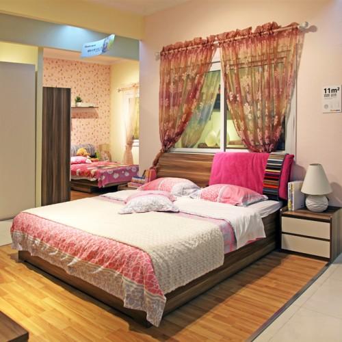 后现代双人床卧室套房家具10