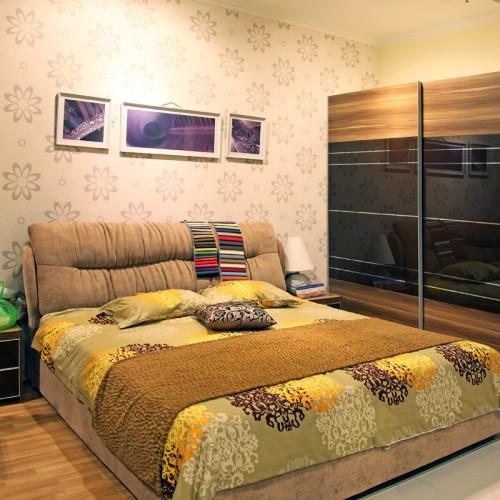 简约卧室双人床卧室套房家具11