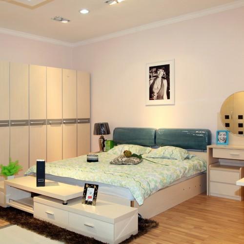 现代简约双人床卧室套房家具14